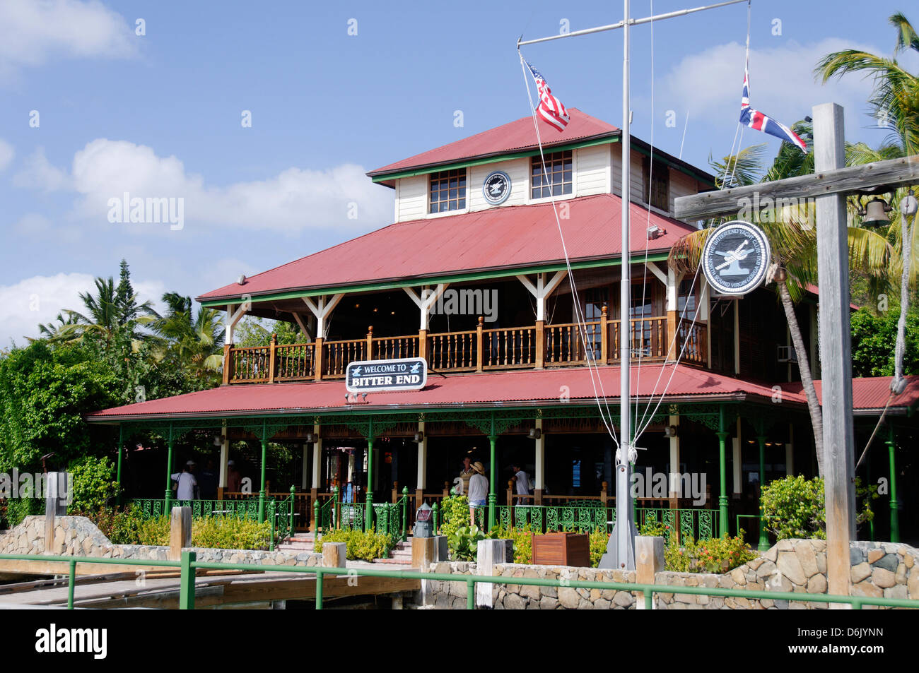 Bitter End Yacht Club, Virgin Gorda Island, British Virgin Islands, West Indies, Caribbean, Central America - Stock Image