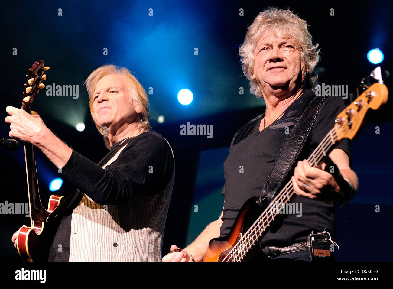 Justin Hayward And John Lodge The Moody Blues Perform On Stage At The Stock Photo Alamy