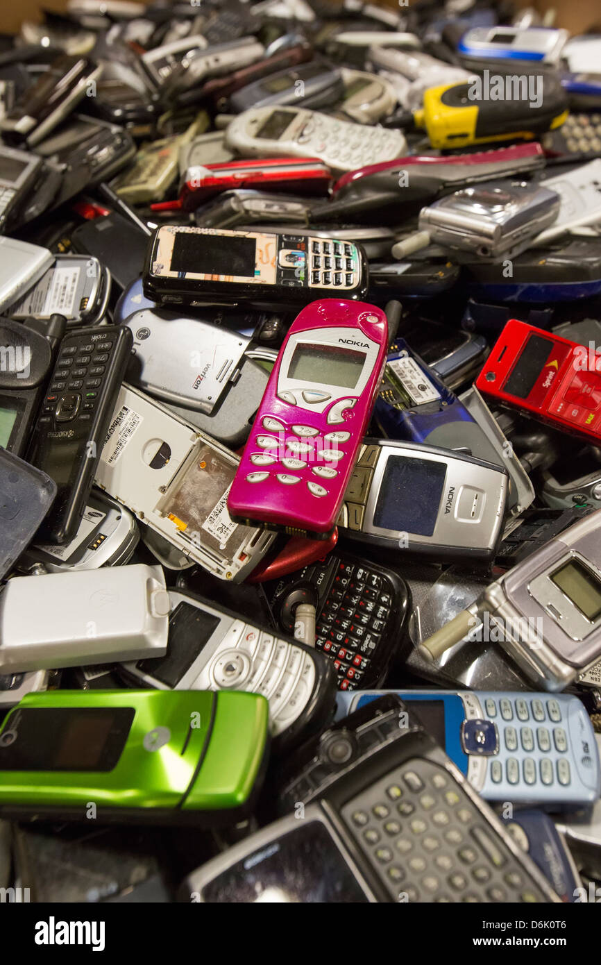 Cell Phone Recycling - Stock Image