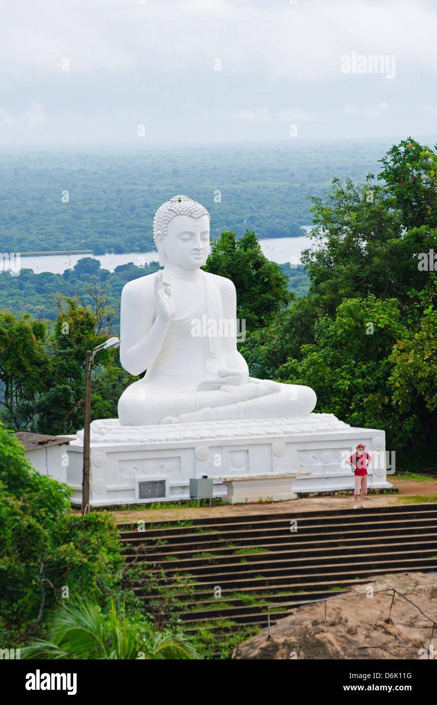 The Great seated Buddha at Mihintale, Sri Lanka, Asia Stock Photo