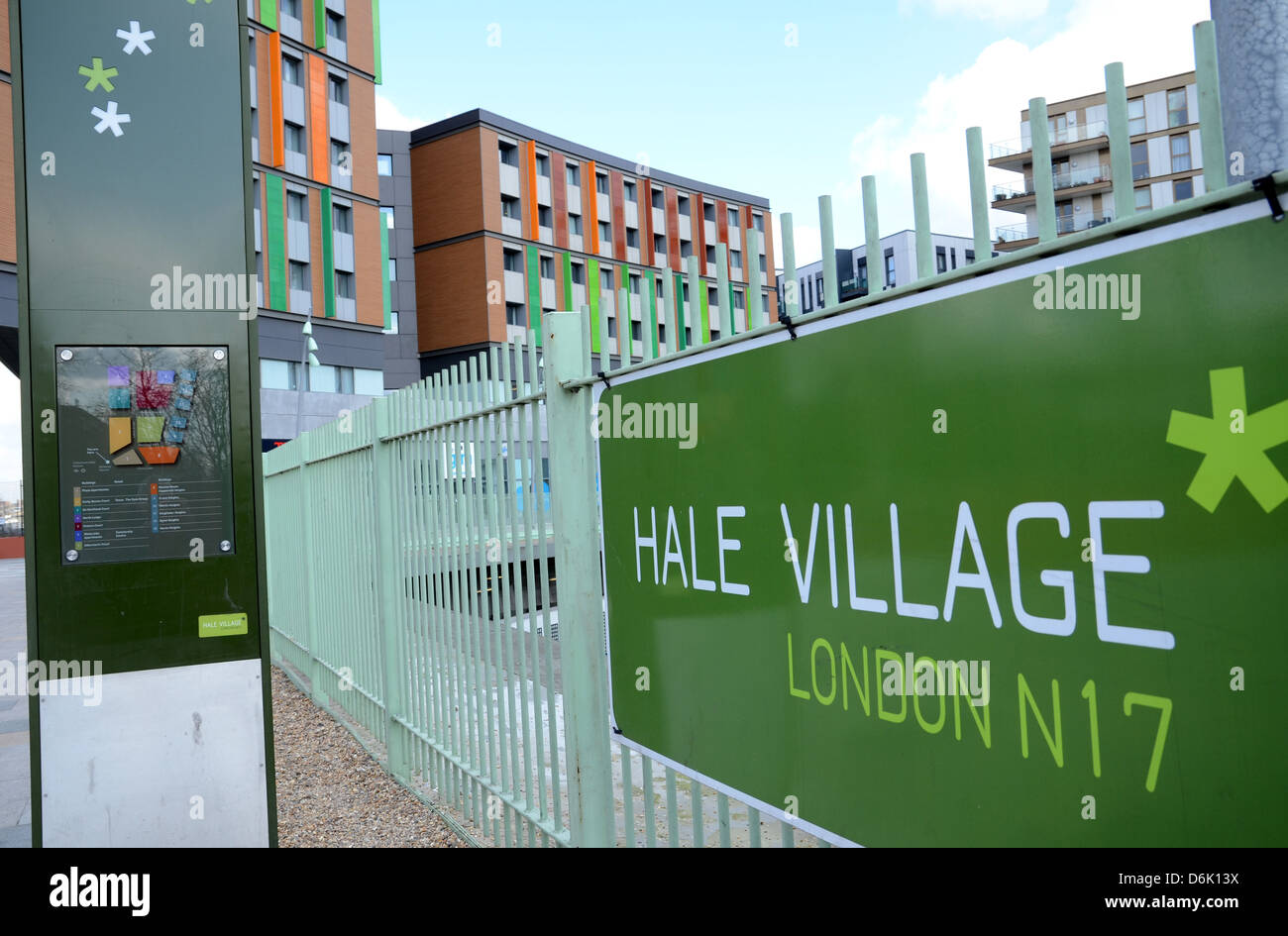 The new Bellway development of Hale Village at Tottenham Hale in north London - Stock Image