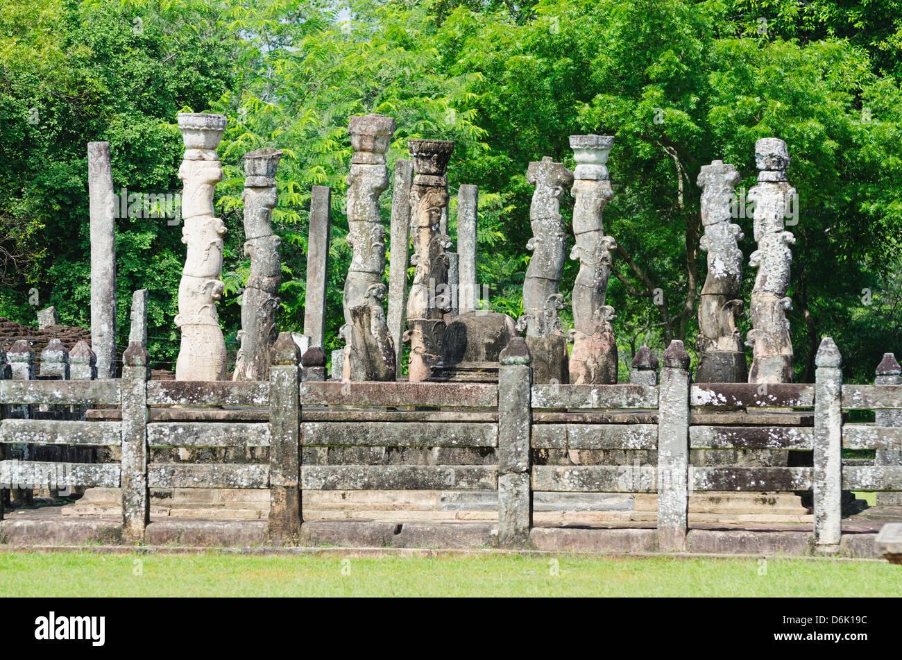Vatadage, Quadrangle, Polonnaruwa, UNESCO World Heritage Site, North Central Province, Sri Lanka, Asia - Stock Image