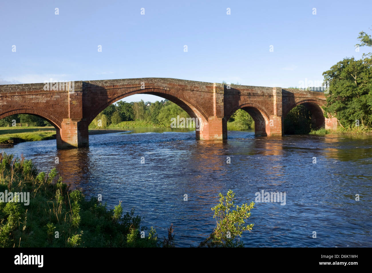 Eden Bridge, Lazonby, Eden Valley, Cumbria, England, United Kingdom, Europe - Stock Image