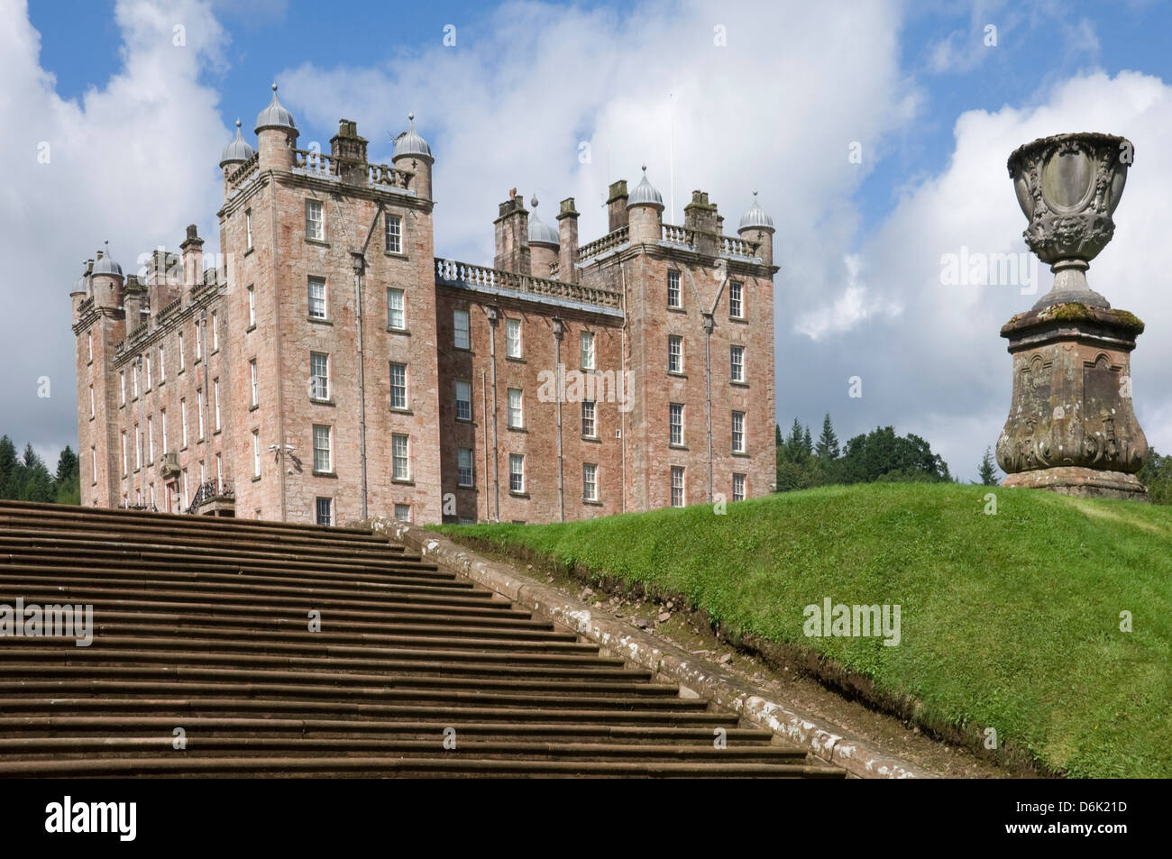 The 17th century Renaissance Palace (The Pink Palace), built by the 1st Duke of Queensberry, Dumfries and Galloway, - Stock Image