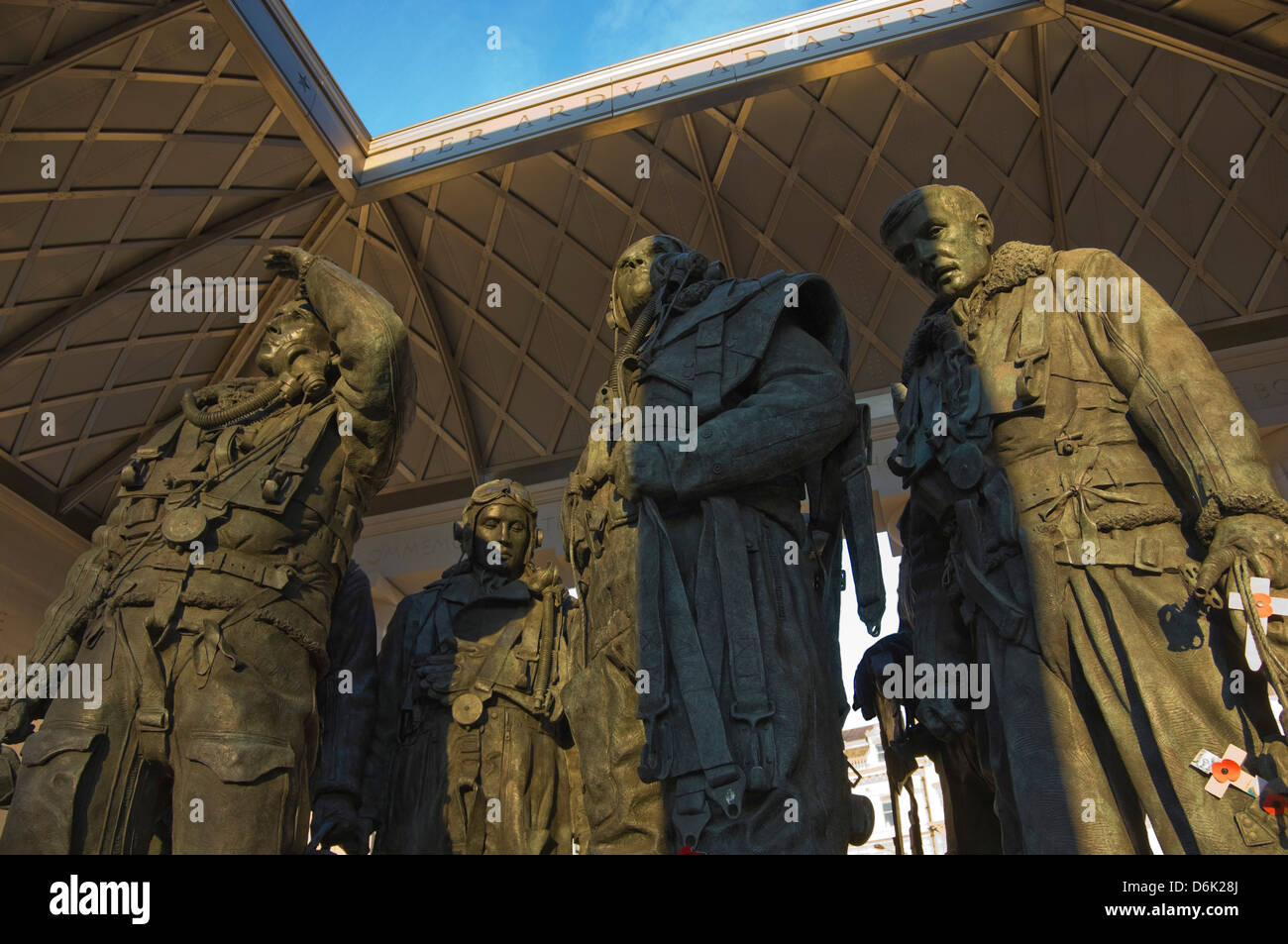 Interior of the Monument to the Royal Air Force Bomber Command, Piccadilly, London, England, UK - Stock Image