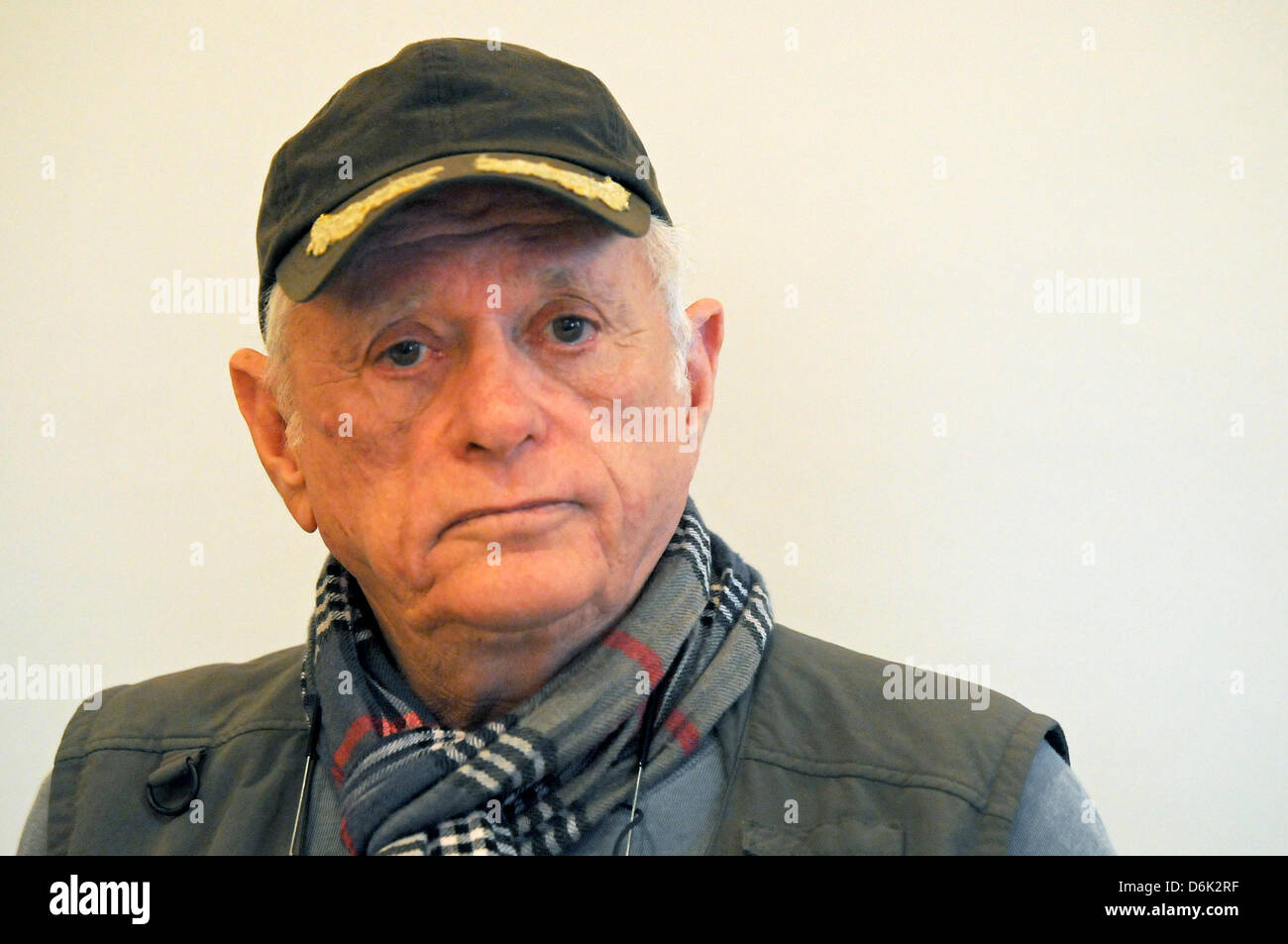 American animal rights activist Richard O'Barry poses during a press conference where he called for German zoo visitors Stock Photo