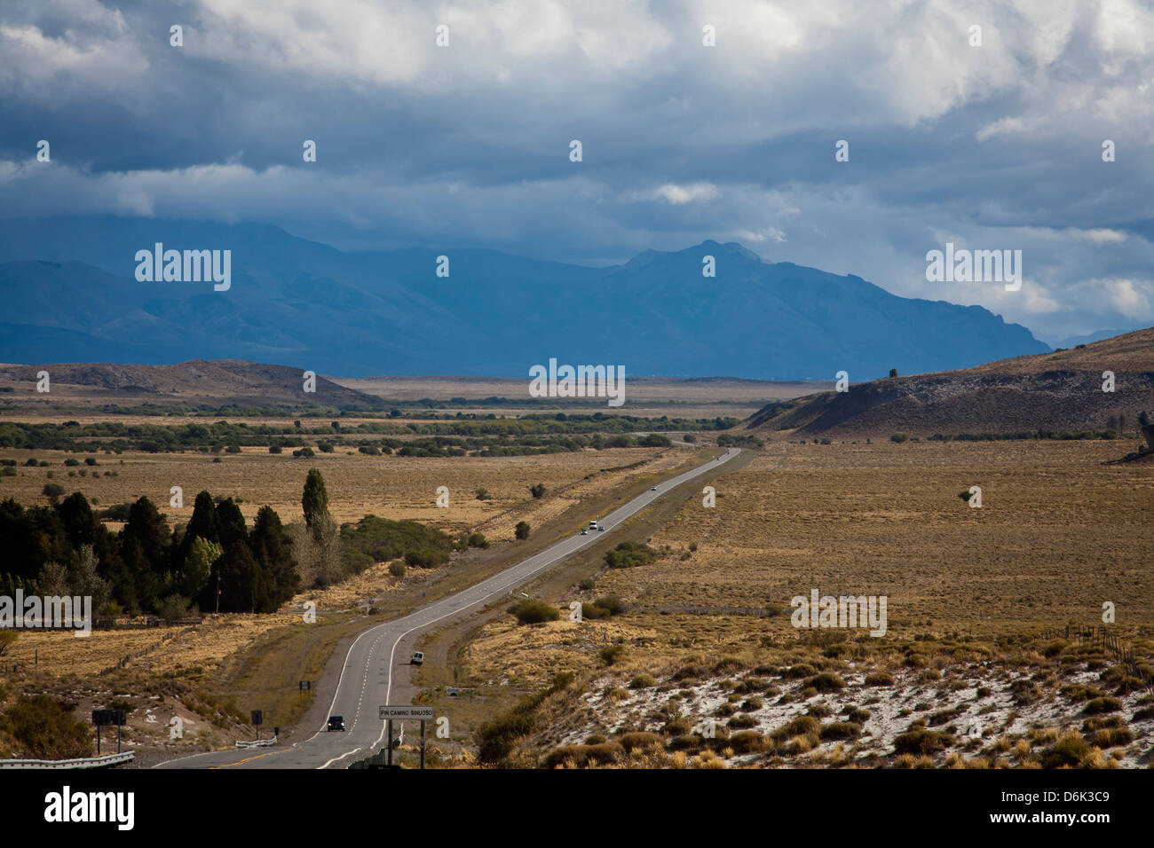 View over Ruta 40, Patagonia, Argentina, South America - Stock Image