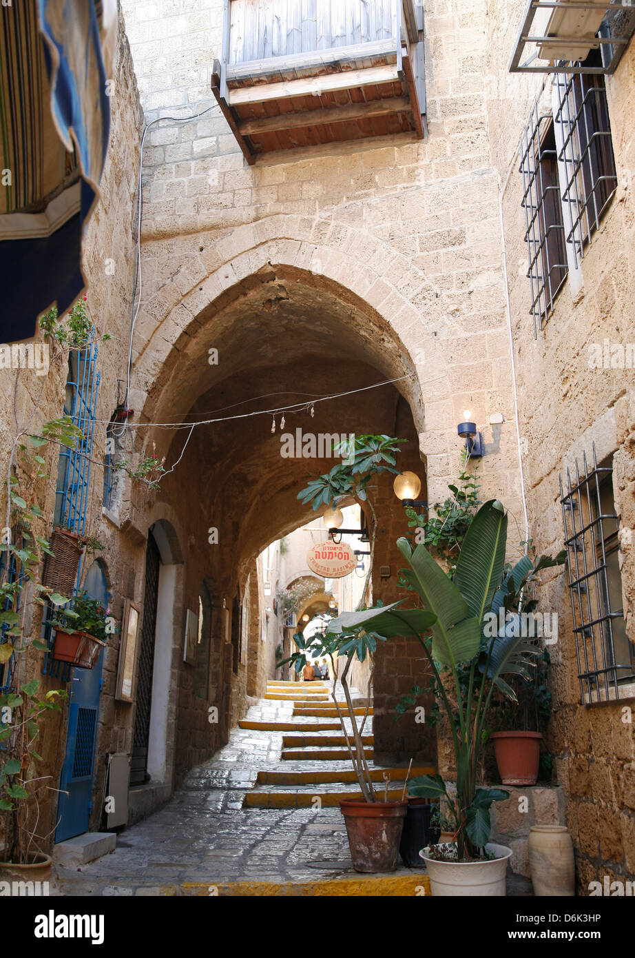 Alleys in the Old Jaffa, Tel Aviv, Israel, Middle East - Stock Image