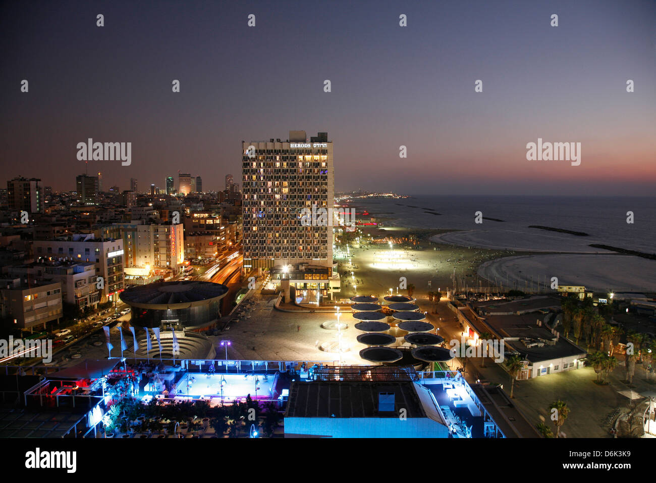 View over the skyline of Tel Aviv, Israel, Middle East - Stock Image