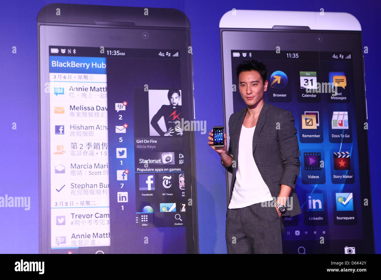 BlackBerry Z10 launching activity in Taipei, Taiwan, China