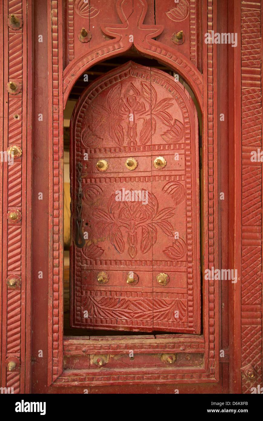 Old traditional door, Wadi Bani Khalid, Oman, Middle East - Stock Image