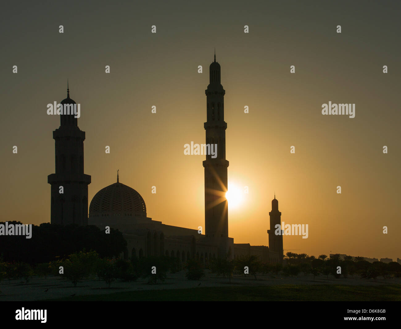 Sultan Quaboos Great Mosque, Muscat, Oman, Middle East - Stock Image