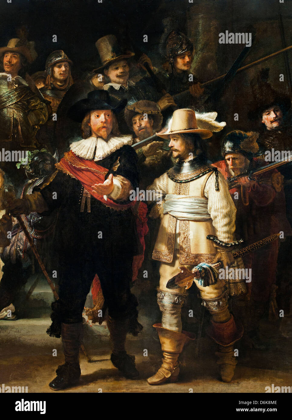 The Night Watch or De Nachtwacht in Dutch1639  Rembrandt Harmenszoon van Rijn  1606–1669  Amsterdam Netherlands - Stock Image