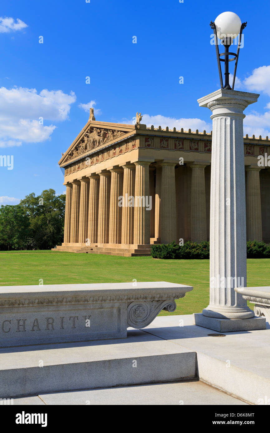 Parthenon in Centennial Park, Nashville, Tennessee, United States of America, North America - Stock Image