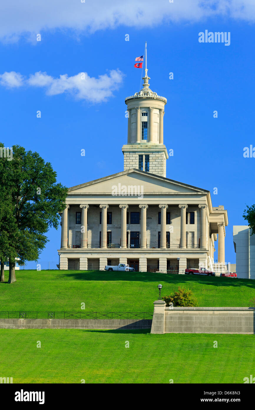 Bicentennial Capitol Mall State Park and Capitol Building, Nashville, Tennessee, United States of America, North - Stock Image