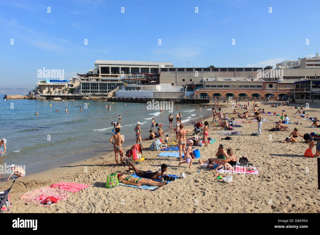 The plage des Catalans in Marseille - Stock Image