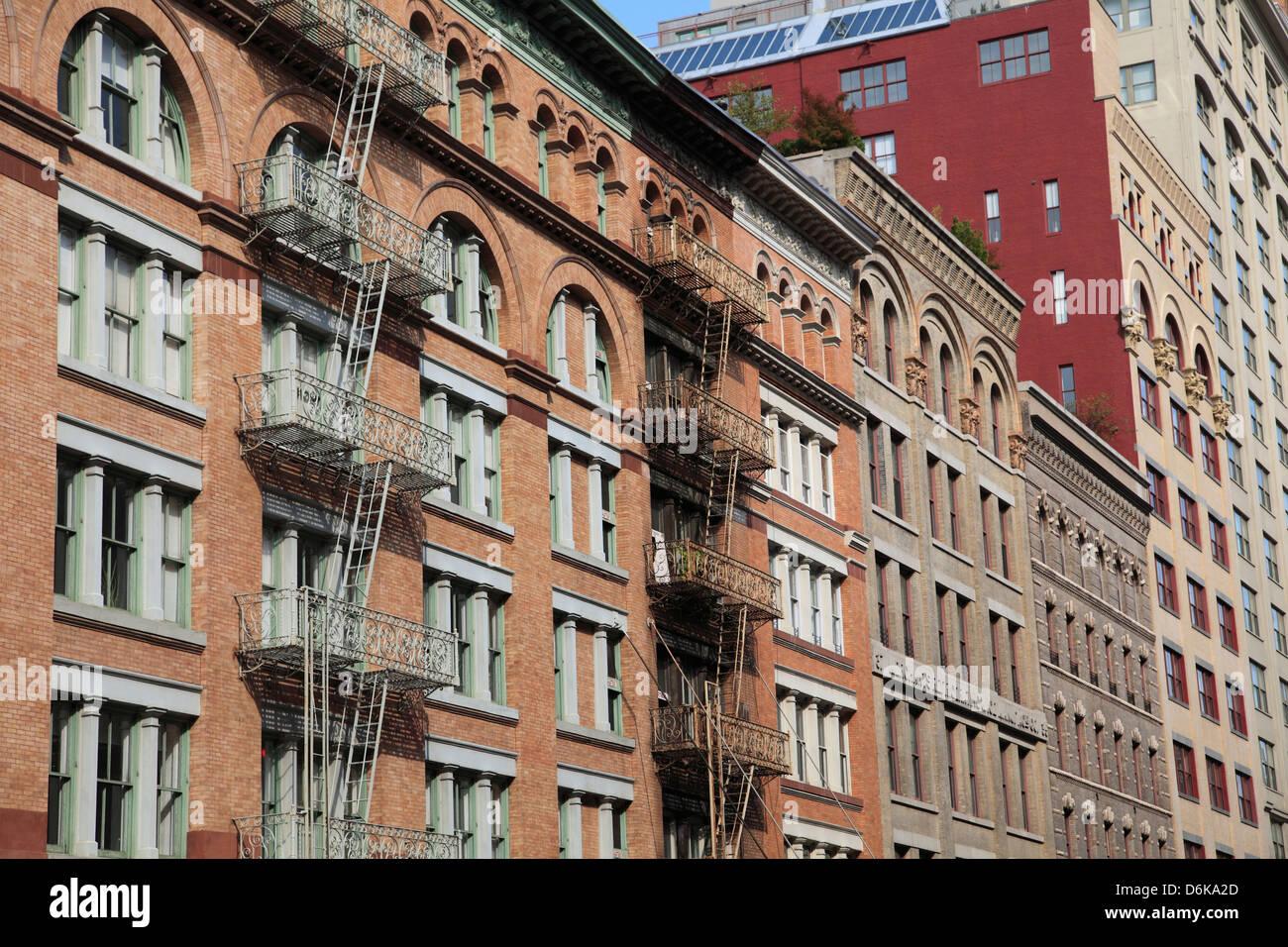 Loft Buildings, Tribeca, Manhattan, New York City, United States of America, North America - Stock Image