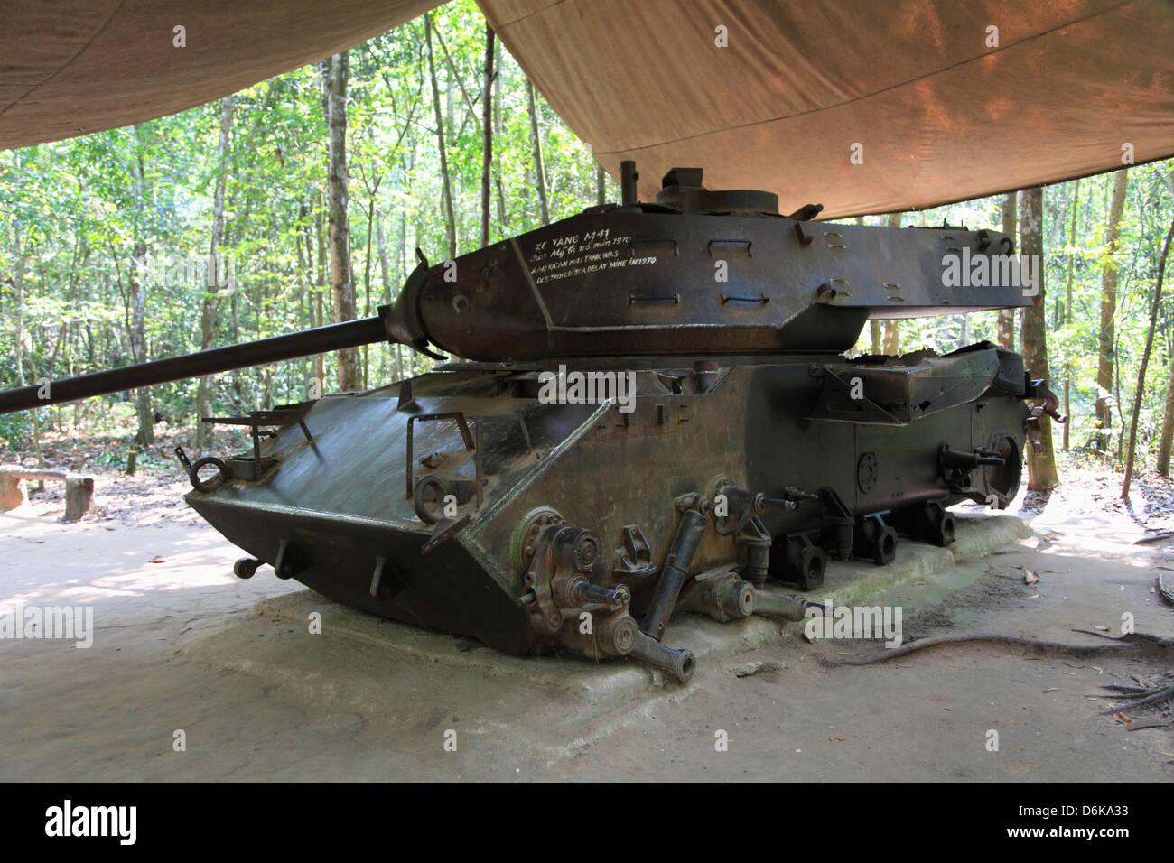Tank, Cu Chi Tunnels, Ho Chi Minh City (Saigon), Vietnam, Indochina, Southeast Asia, Asia - Stock Image