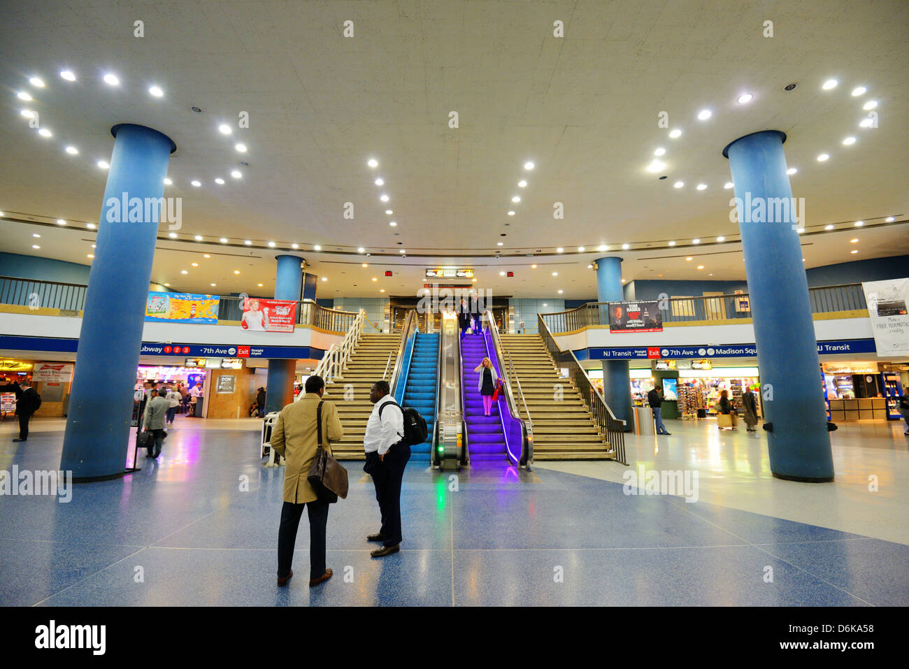 Penn Station Nyc Map Inside.Interior Of Penn Station In New York City Stock Photo 55744116 Alamy
