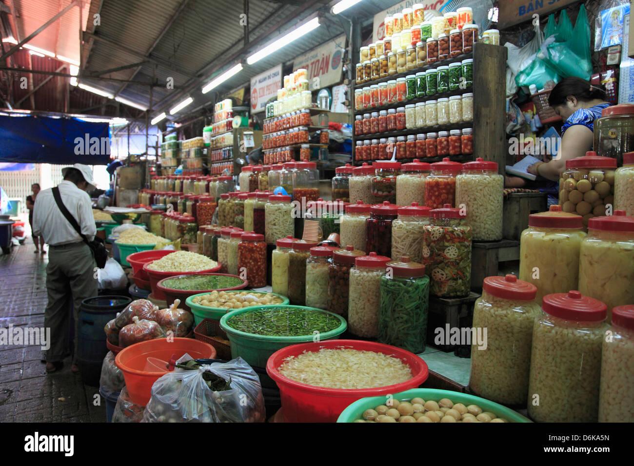 Binh Tay Market, Cholon, Chinatown, Ho Chi Minh City (Saigon), Vietnam, Indochina, Southeast Asia, Asia - Stock Image