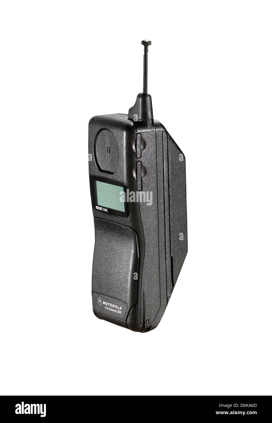 An old style Motorola flip mobile phone - Stock Image
