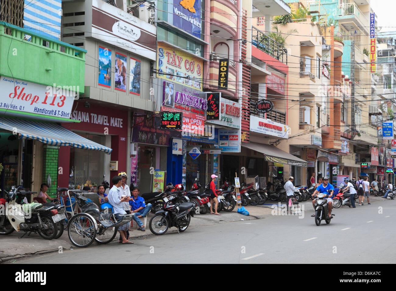 Pham Ngu Lao, Backpacker District, Ho Chi Minh City (Saigon), Vietnam, Indochina, Southeast Asia, Asia - Stock Image