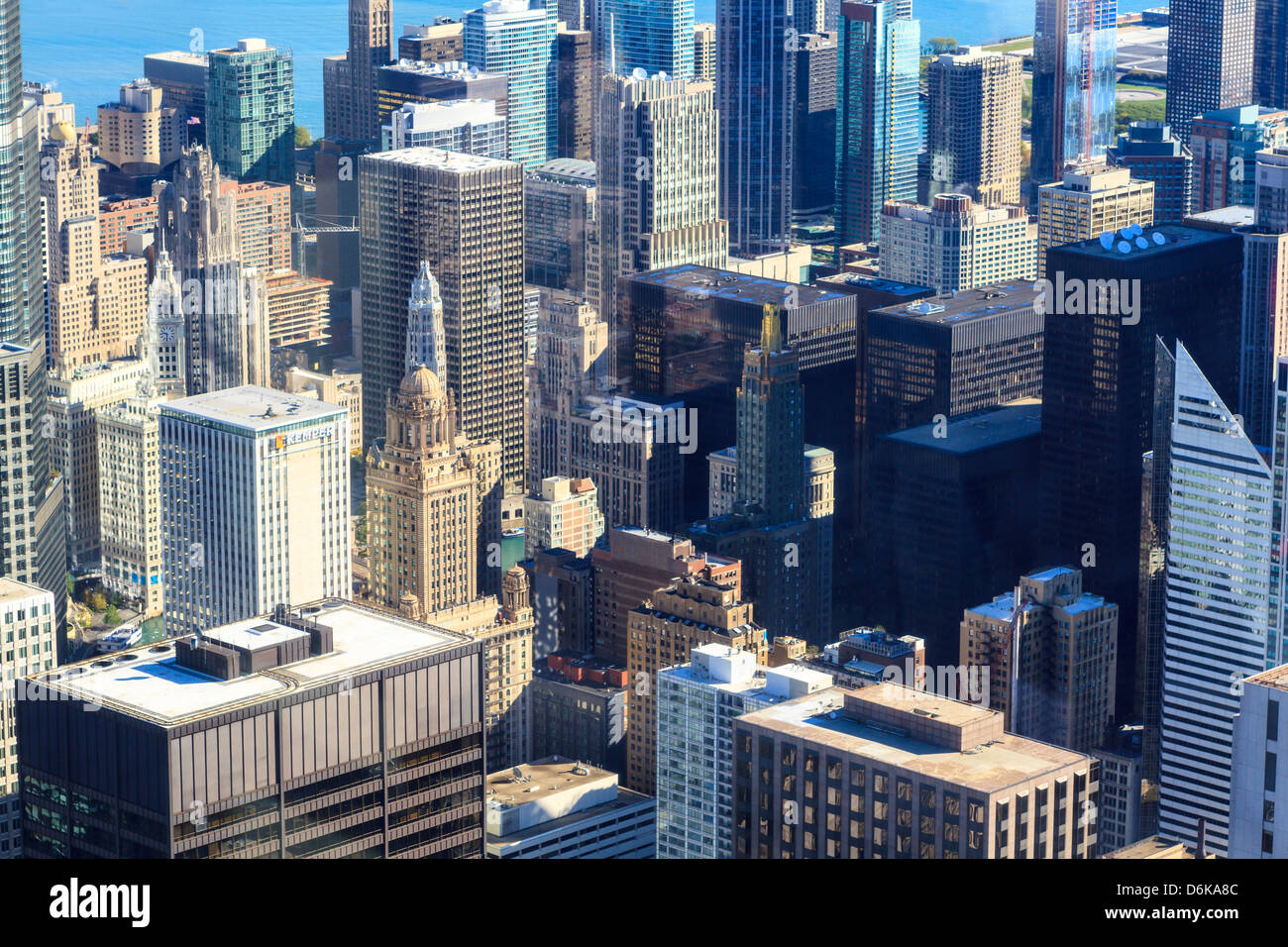 Skyscrapers in Downtown Chicago, Illinois, United States of America, North America - Stock Image