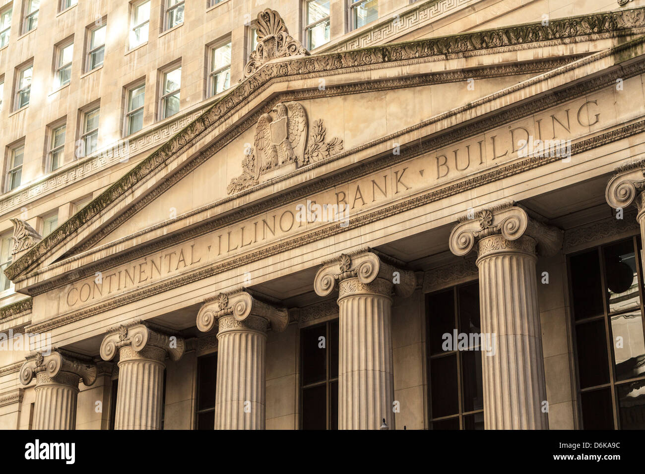 Classical architecture in the financial district, Chicago, Illinois, United States of America, North America - Stock Image