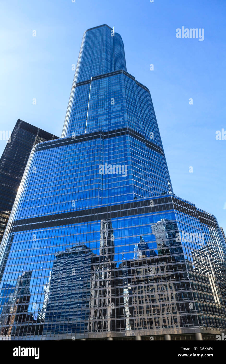 Trump Tower, Chicago, Illinois, United States of America, North America - Stock Image