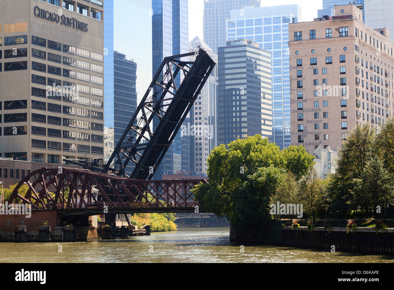 Chicago River scene, Chicago, Illinois, United States of America, North America Stock Photo