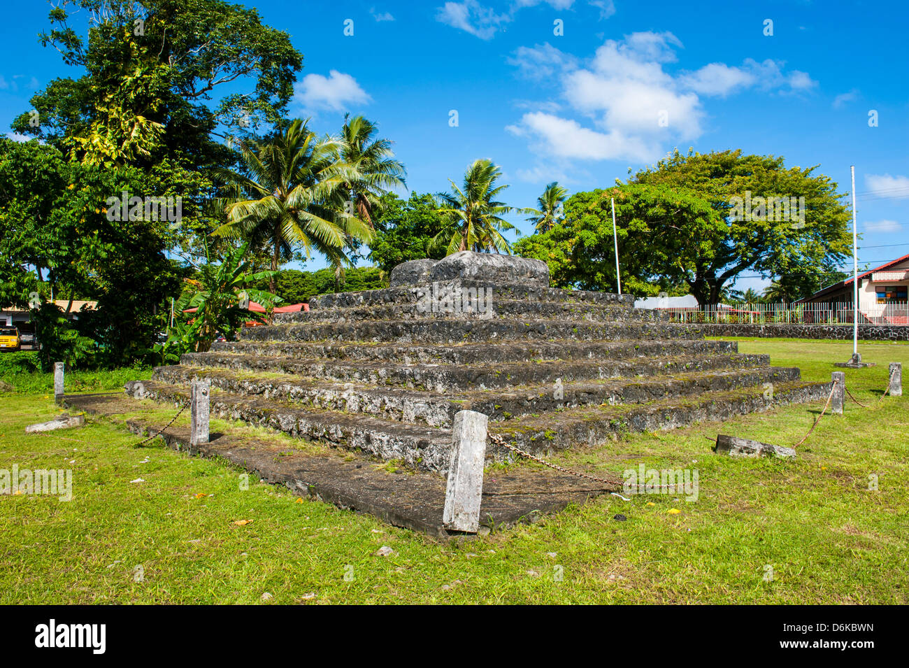 Tia Seu Lupe, burial mound, American Samoa, South Pacific, Pacific - Stock Image