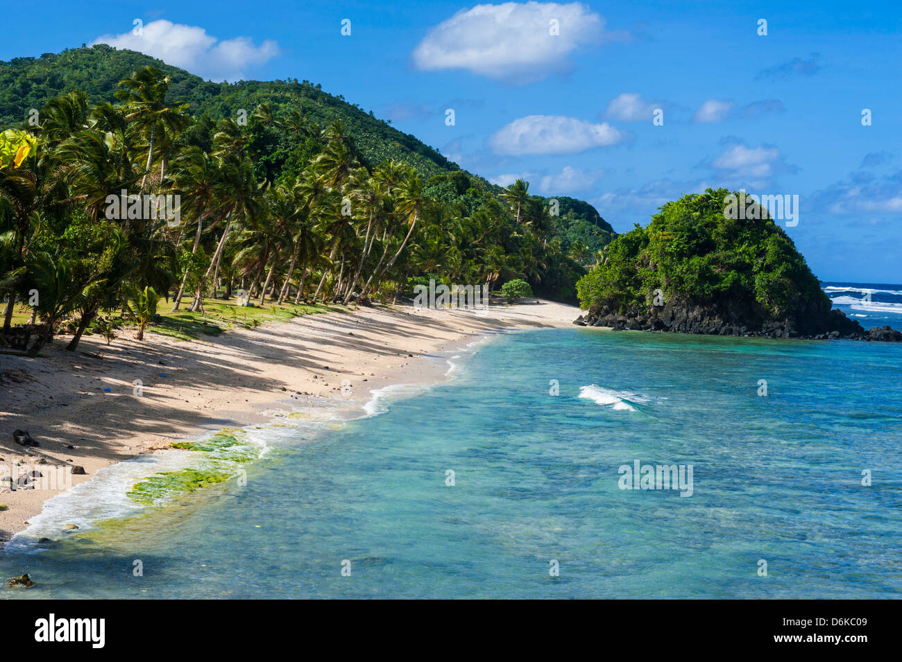 Two Dollar Beach on Tutuila Island, American Samoa, South Pacific, Pacific - Stock Image