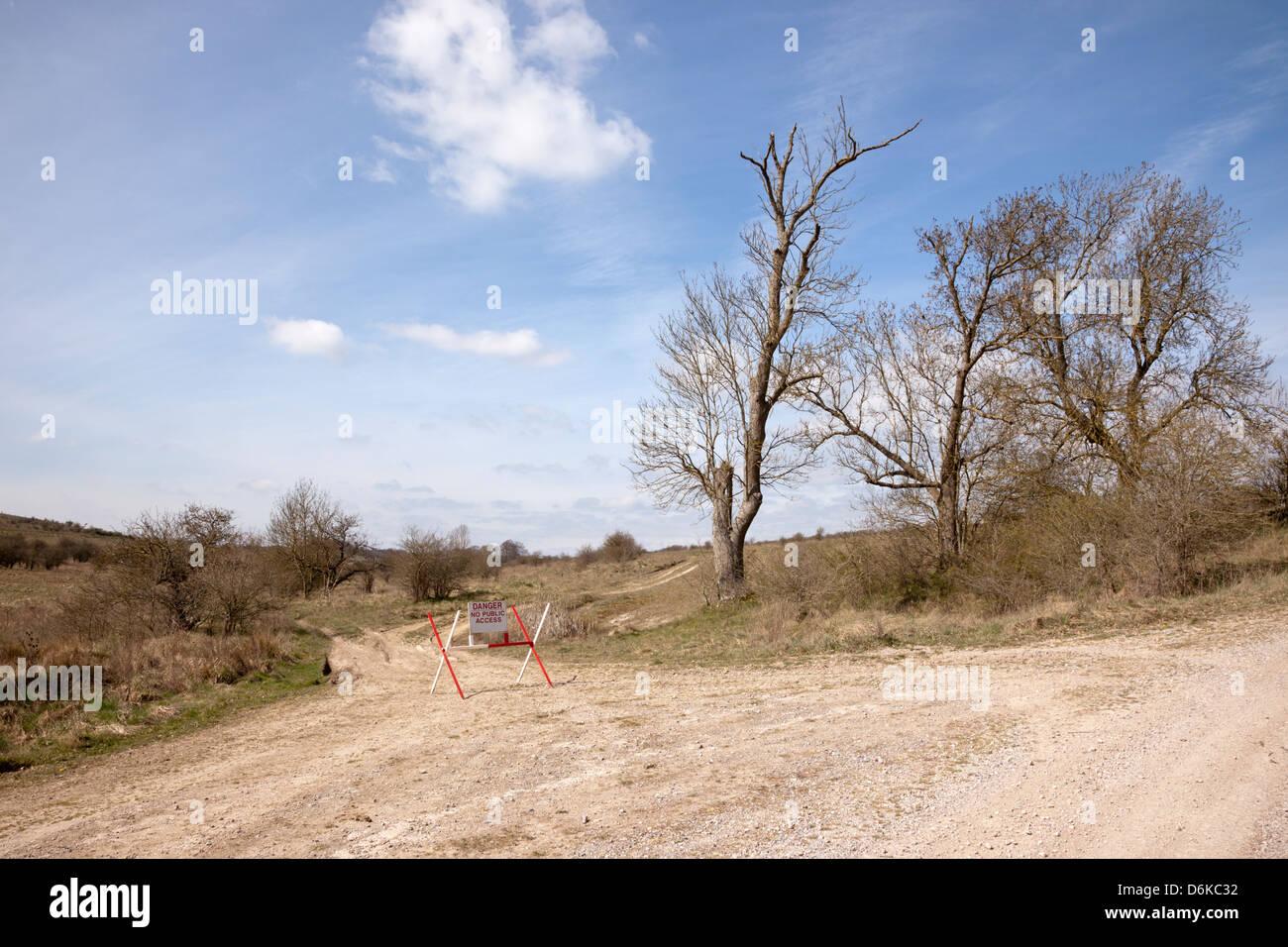 Salisbury Plain, Wiltshire, England - Stock Image