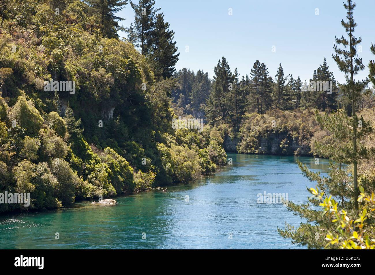 The Waikato River near Taupo New Zealand - Stock Image