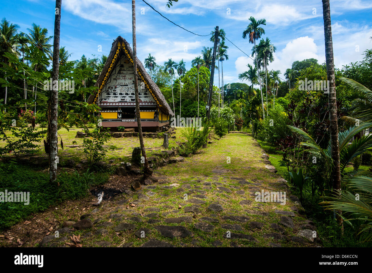 Oldest Bai of Palau, a house for the village chiefs, Island of Babeldoab, Palau, Central Pacific, Pacific - Stock Image