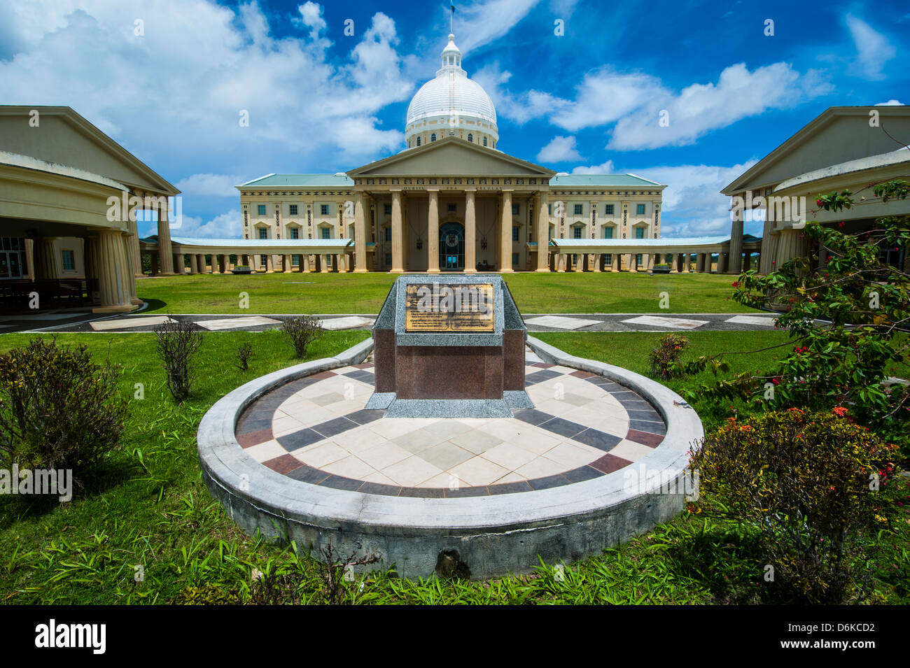Parliament building of Palau on the Island of Babeldoab, Palau, Central Pacific, Pacific - Stock Image