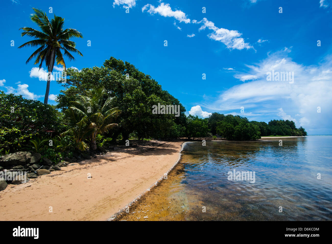 Beach in the north of the Island of Babeldoab, Palau, Central Pacific, Pacific - Stock Image