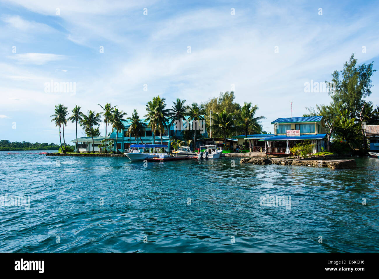 The harbour of Koror, Palau, Central Pacific, Pacific - Stock Image