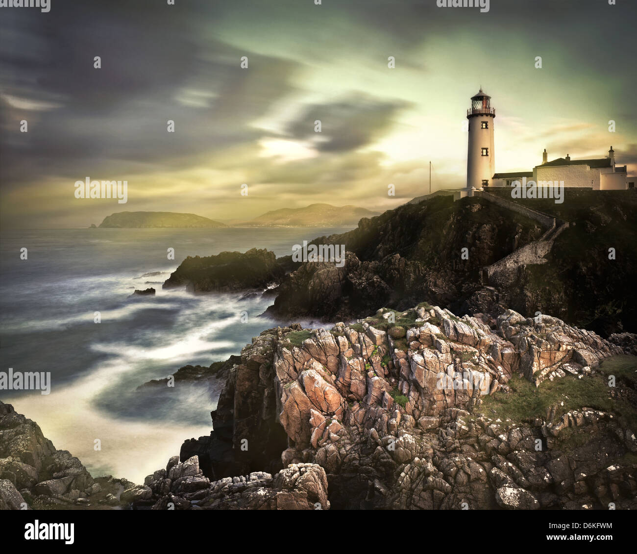 IE - CO.DONEGAL: Fanad Head Lighthouse - Stock Image