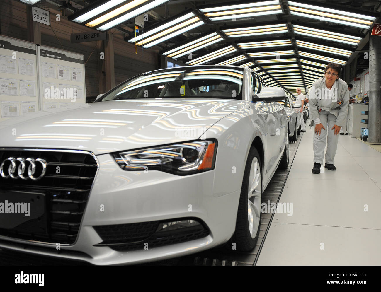 Ingolstadt Germany Car Production At Audi Ag In