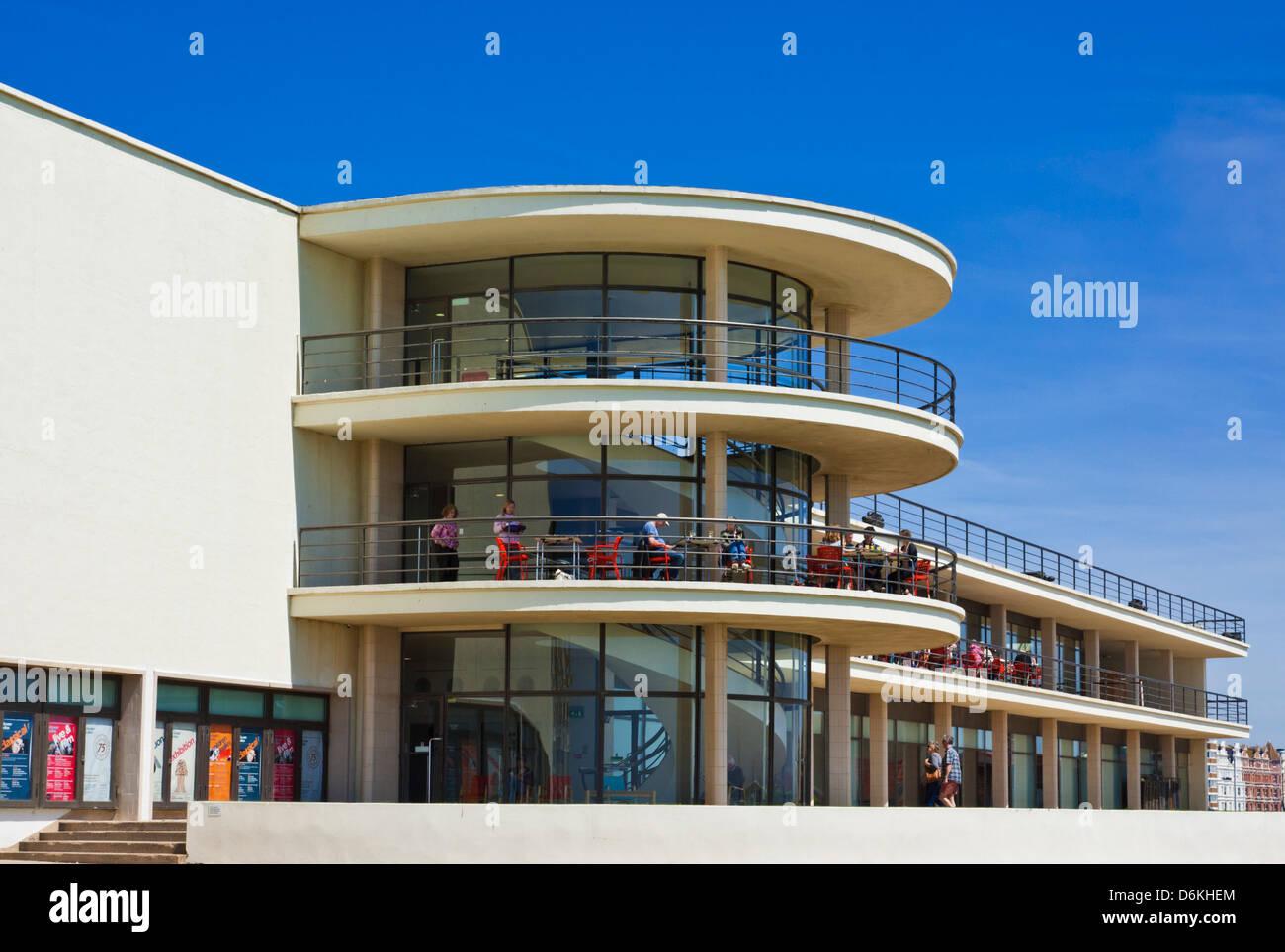 the De La Warr Pavilion, Bexhill on Sea, East Sussex, England, UK, GB, EU, Europe - Stock Image