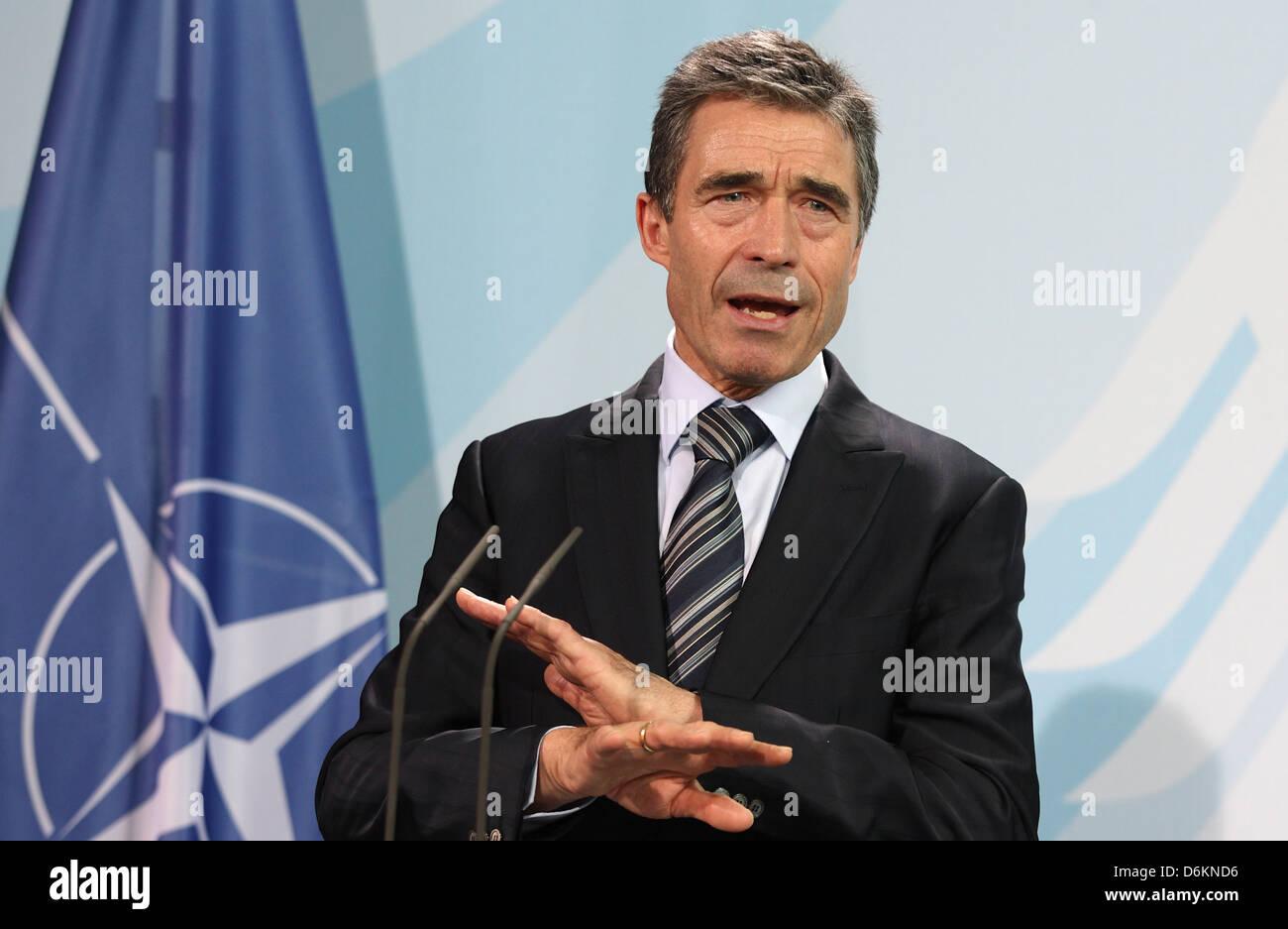Berlin, Germany, Anders Fogh Rasmussen, Secretary General of NATO Stock Photo