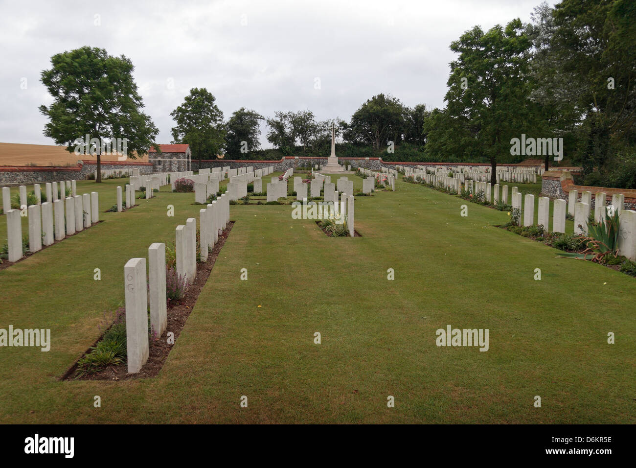 general view of the Quarry Cemetery, Montauban, Somme, France. - Stock Image