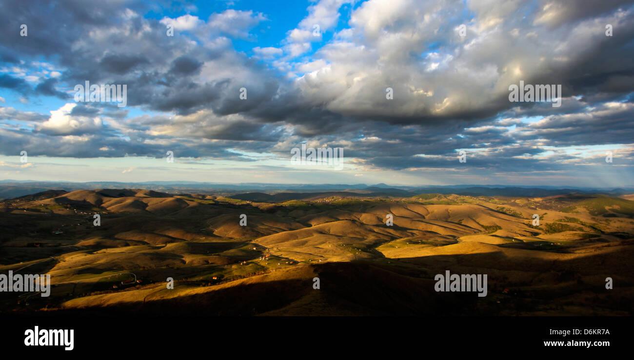 Panorama of Zlatibor mountain in Serbia - Stock Image