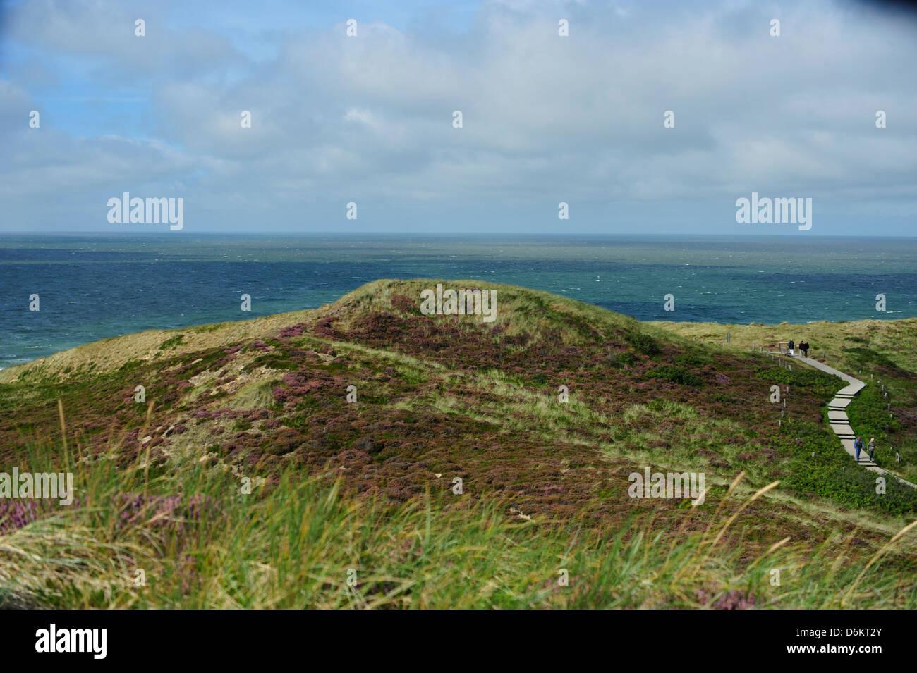 Blick von der Uwe-Düne auf die Nordsee bei Kampen, Sylt. - Stock Image