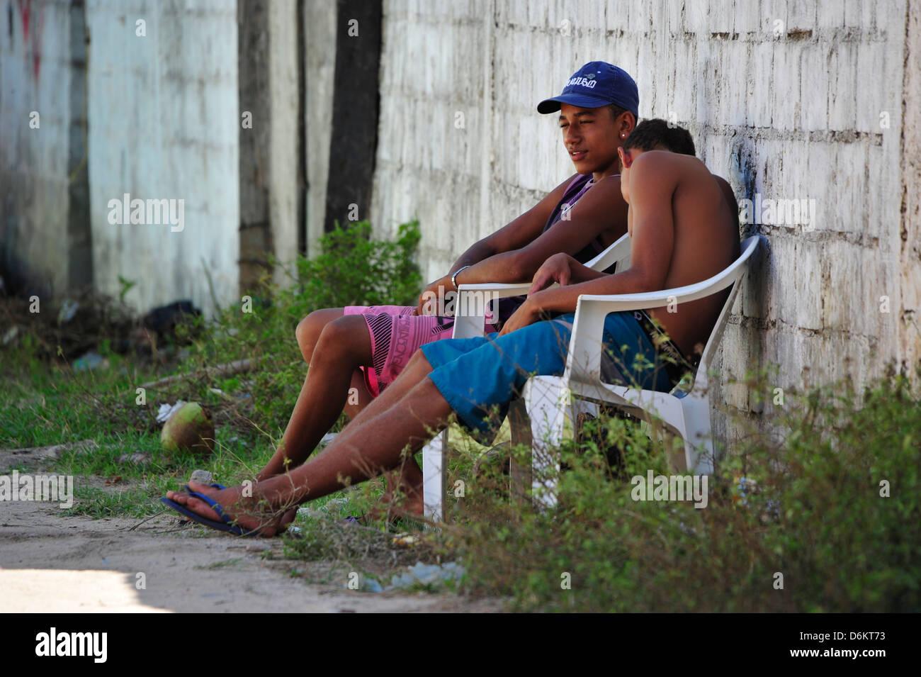 Siesta, Trancoso, Bahia, Brazil. - Stock Image