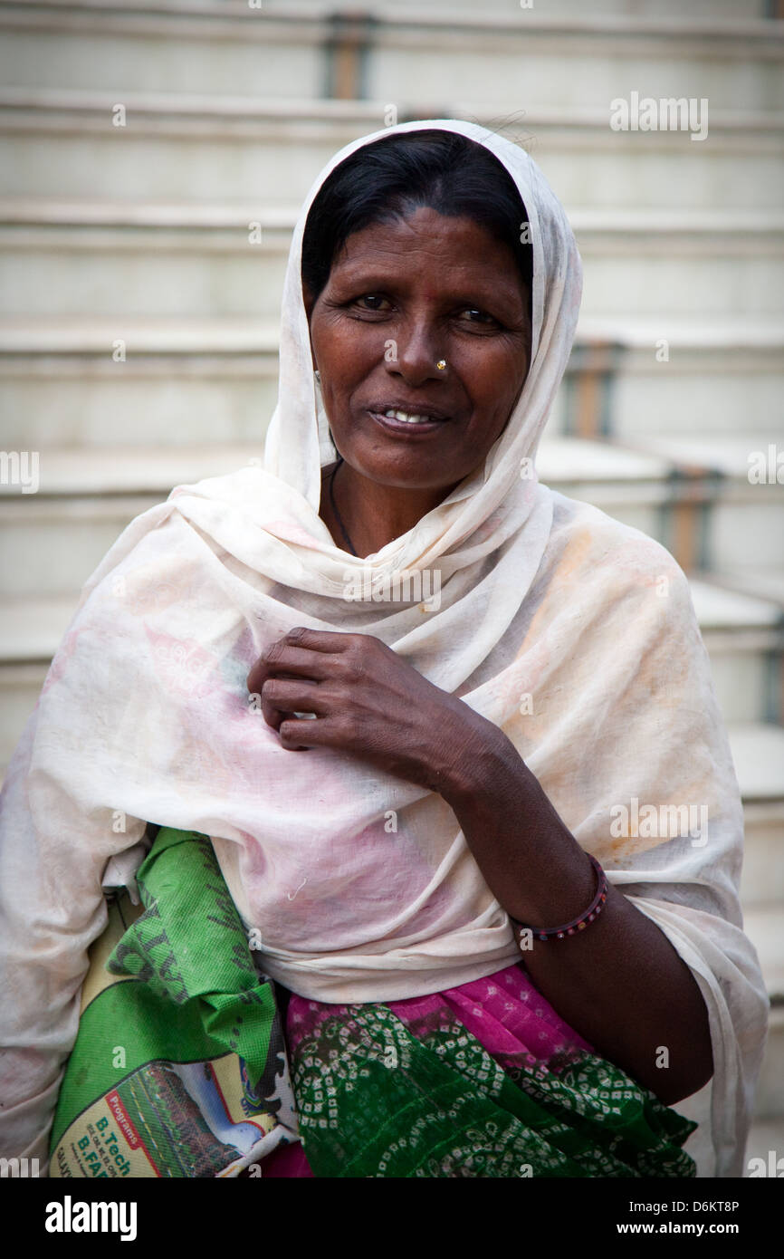 Smiling Indian woman, Ahmedabad - Stock Image