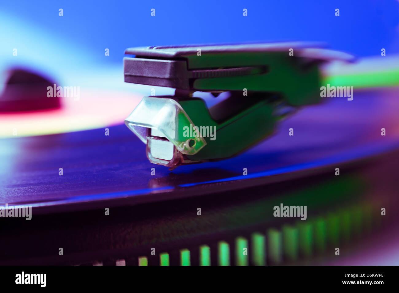 player vinyl creative color macro - Stock Image