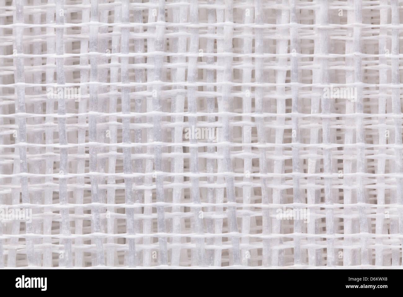 mesh glass-fiber insulation texture closeup - Stock Image