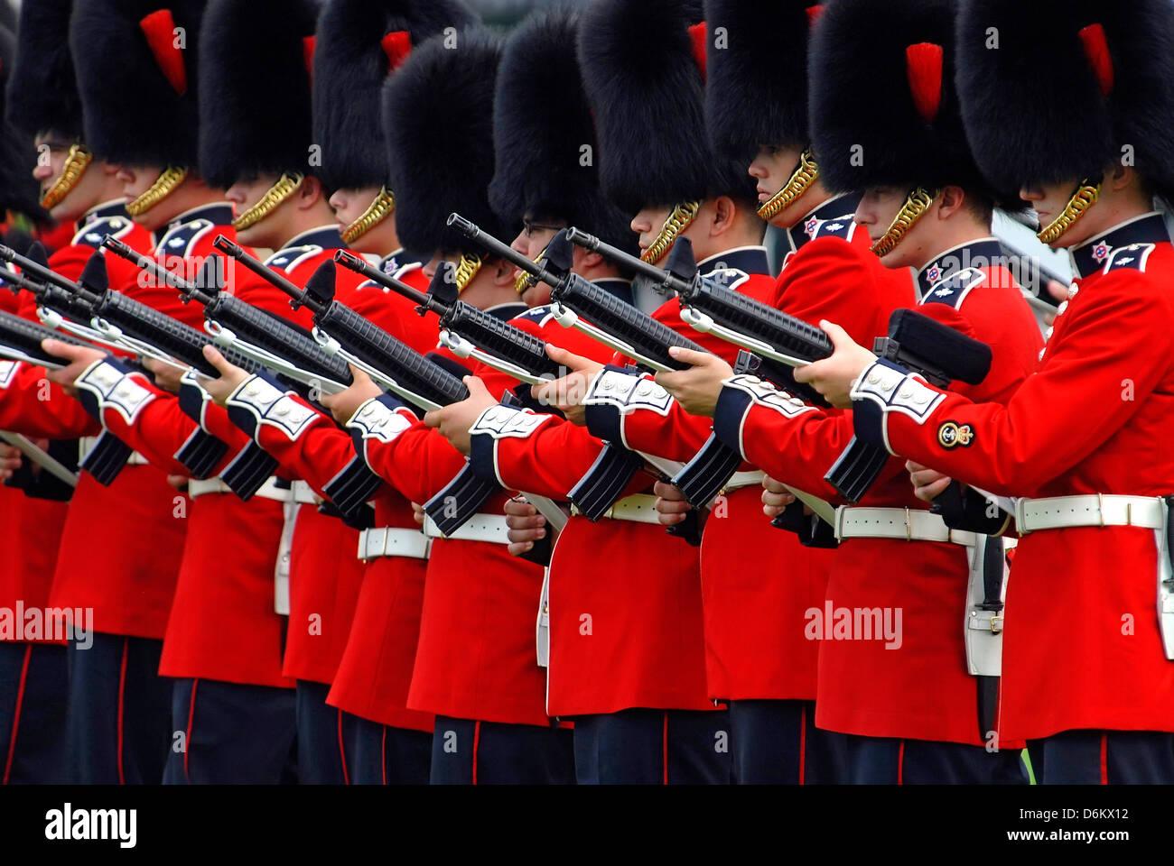 Ceremonial Guard In Ottawa,Canada - Stock Image